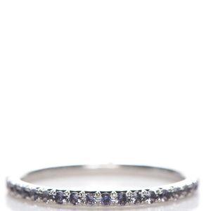 Tiffany & Co 18K White Gold lolite Metro Ring 4.5